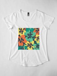 """Flower Print, Flower Pattern"" T-shirt by MsD7 | Redbubble Crew Neck Sweatshirt, T Shirt, Flower Prints, Flower Patterns, Tshirt Colors, Chiffon Tops, Fitness Models, Mini Skirts, Women's Fashion"