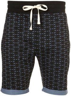 Blue Aztec Pattern Shorts