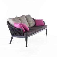 Image of Black Outdoor Sofa design by BD MOD Black Outdoor Furniture, Modern Garden Furniture, Unique Furniture, Online Furniture, Contemporary Furniture, Outdoor Sofa, Burke Decor, Sofa Design, Lounge