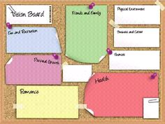 Vision board on pinterest templates feng shui and law for Vision board templates free