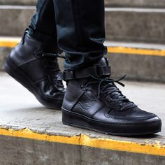 Meet the Nike Air Force 1-inspired Manual Industrial Products 01 Black by Japanese brand Hender Scheme.