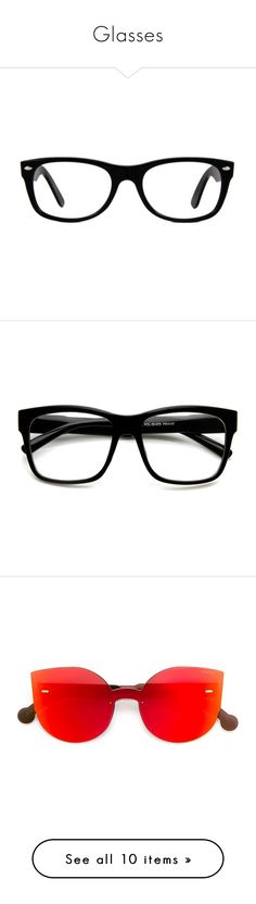 Glasses by memequeenusagi ❤ liked on Polyvore featuring accessories, eyewear, eyeglasses, glasses, jewelry, black, square rimmed glasses, ray-ban eye glasses, ray ban eyewear and rimmed glasses