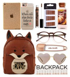 """In My Backpack: 09/09/16"" by pinky-chocolatte ❤ liked on Polyvore featuring Wildfox, Casetify, NYX and Mara Hotung"