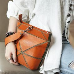 72966ce4ecb6 Overview: Design: Handmade Leather Bucket Bag Handbag Shoulder Crossbody Bags  Purses In Stock: