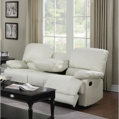 Wildon Home  Dalton Reclining Sofa Upholstery: Cream