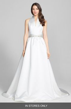 Jesús Peiró Jesus Peiro Satin Dress with Embellished Waist Overskirt (In Stores Only) available at #Nordstrom