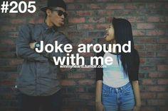 Joke around