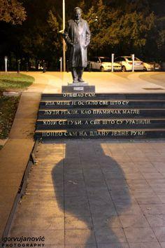 Ivo Andrić monument, a Nobel Prize winner in literature,  - Andrićev venac, Belgrade