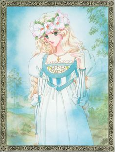 "Art from ""Madonna Of The Flower Crown"" series by manga artist & ""Revolutionary Girl Utena"" creator Chiho Saito."