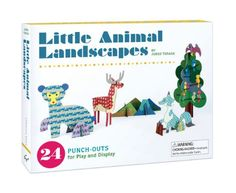 Little Animal Landscapes: 10 Punch-Out Scenes for Play and Display (Notecards): Amazon.co.uk: Junzo Terada: 9781452128979: Books