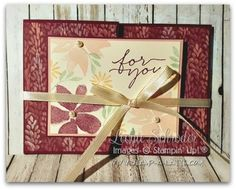Z fold card Blooms f