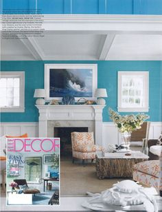 Summer beach house decor inspiration - loving these blues and subtle beachy touches!!