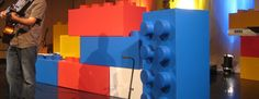 """Lego (cool for maybe a vbs stage or children's church?) """"We are all linked together"""""""
