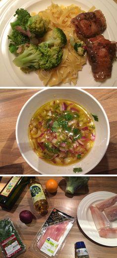 Dit gerecht met kabeljauw in parmaham is in maar 30 minuten klaar! Eet gevarieerd en gezond en maak dit gerecht zelf klaar met het recept op de website. Pesto, Dinner Recipes, Fish, Chicken, Website, Ichthys, Cubs