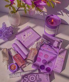 Violet Aesthetic, Lavender Aesthetic, Aesthetic Colors, Aesthetic Makeup, Purple Love, Pastel Purple, Colourpop Cosmetics, Makeup Cosmetics, Makeup Kit