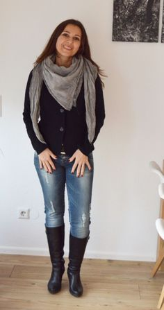 Outfit: Stil-Mix ganz klassisch mit Jeans und Blazer - Castlemaker #fashionblogger #jeans #blazer #outfit