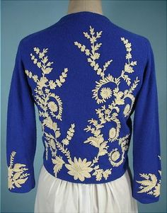 1950's Helen Bond Carruthers cashmere sweater - Back view.