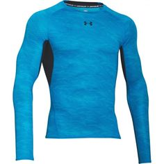 Pánské kompresní triko Under Armour modré žíhané Under Armour, Double Take, Short Sleeves, Long Sleeve, Sportswear, Men's Shirts, Workout, Ua, Fitness