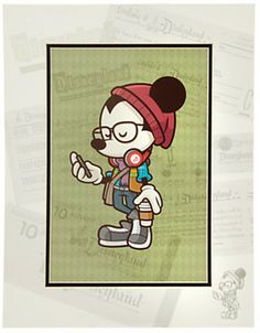 Mickey Mouse ''Happiest Hipster on Earth'' Art Print by Jerrod Maruyama on shopstyle.com