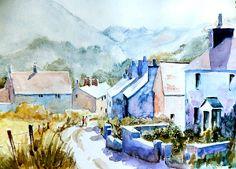 Mountain Village by Steven Ponsford Watercolor