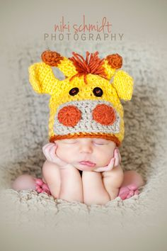 Custom order Newborn crochet giraffe hat and diaper cover set - Photo prop. $40.00, via Etsy.