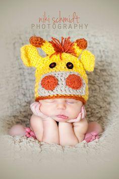 Custom order Newborn crochet giraffe hat and diaper cover set - Photo prop. $40.00, via Etsy.