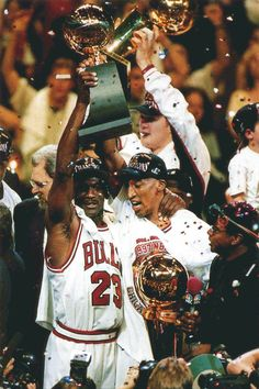 Chicago Bulls. Michael and Scottie.....we are the world champions. In 'yo face!!!