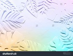 White and colorful  cut leaves on the white background. Horizontal banner for text. Frame for text.