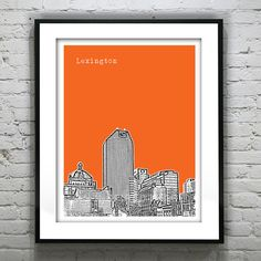 Lexington Kentucky Poster Art Print Skyline 8 X by AnInspiredImage, $19.00