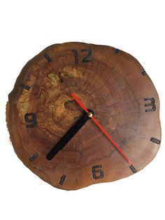 Cherry Wood clock.  Linseed oil and bees wax finishing. Continuous movement clock mechanism