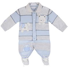 Macacão Bebê Menino com Casaco Samuel Azul - Beth Bebê :: 764 Kids   Roupa bebê e infantil