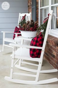 Festive & Frugal Christmas Porch Decor | Ideas for adding easy touches of Christmas to welcome your family and friends to your home. by joan