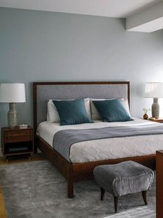 Modern Bedrooms from Design Development on HGTV Soothing grays...