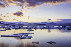https://flic.kr/p/pzMwZE   Sunset over Jökulsárlón   Iconic glacial lake in southeast Iceland, on the edge of Vatnajökull National Park. Situated at the head of the Breiðamerkurjökull glacier.