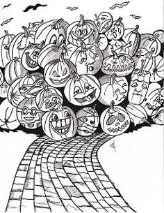 Pumpkin Party Free Printable Coloring Page