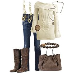 Oh so adorable outfit for Fall/Winter...but switch out the boots for something with heel or fancy flats :)