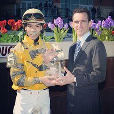 Jose Ortiz and Ramon Dominquez, 2012 top apprentice and journeymen jockeys for NYRA
