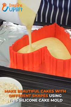 healthy snacks - Not only is this a bottomless cake pan, the DIY Cake Baking Shaper allows you to create over 50 different shapes, numbers and letters Simply make the desired shape on a foil lined tray, pour in your mix or batter and watch as you bake you Cool Kitchen Gadgets, Cool Kitchens, Cupcakes, Cupcake Cakes, Cooking Tools, Cooking Recipes, Baking Gadgets, Cake Recipes, Dessert Recipes