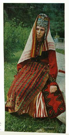 Female costume of the Rhodopes (Bulgarian: Родопи, Rodopi; Greek: Ροδόπη, Rodopi; Turkish: Rodop)