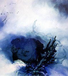 """oil paintings by Lenka Zemanová              """"Ryby"""" cyklus Zvěrokruh   95x90cm"""