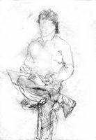Scetch Of Sergey Bogomolov, paper, pencil, 19x14 cm.