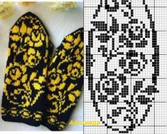 Knitted Mittens Pattern, Intarsia Knitting, Knit Mittens, Knitting Charts, Knitting Socks, Knitted Hats, Knitting Patterns, Fair Isle Knitting, Bane