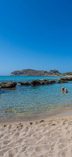 Beloved Falassarna beach in Chania, Crete
