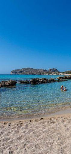 Long sandy beach of Falassarna in Chania, Crete