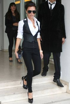 Victoria Beckham does androgynous so well, I love her