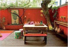 decoração rustica para varanda