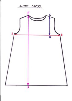 A-line Dress Pattern for the girls