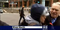 Obama protester busts into Jay Levine report on CBS 2