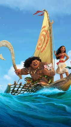 Moana Due to the newer practice of theaters having late shows the evening before the official release date, the film was first shown on lead actress Auli'i Cravalho's birthday. Disney Love, Disney Magic, Disney Art, Disney Pixar, Disney Background, Cartoon Background, Cartoon Movies, Cartoon Pics, Moana 2016
