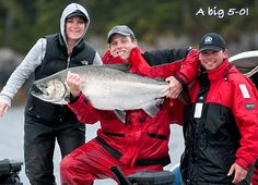 A big 5-0! The big Tyee salmon just keep comin', Queen Charlottes, B.C.